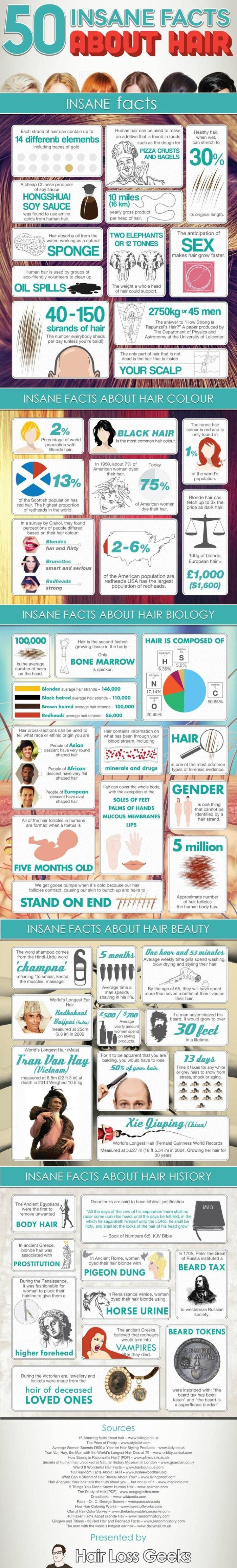 hair facts infographic