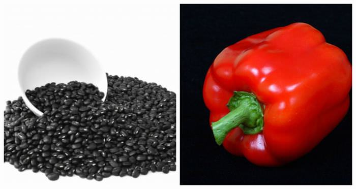 Black Beans Red Peppers