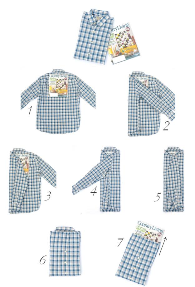 tailored shirt folding