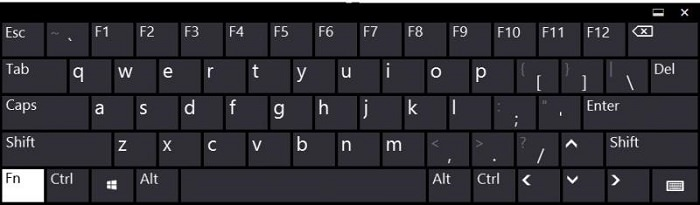 Computer Keyboard with F Keys