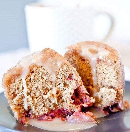 Strawberry Vanilla Mug Cake