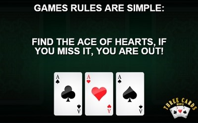 html5 game 3 card monte