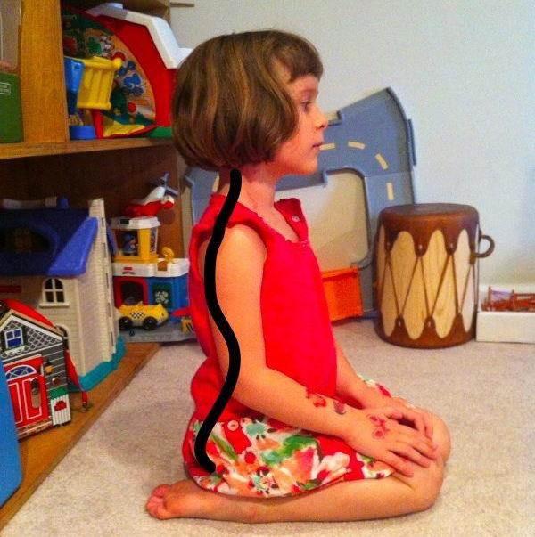 dangerous child sitting position