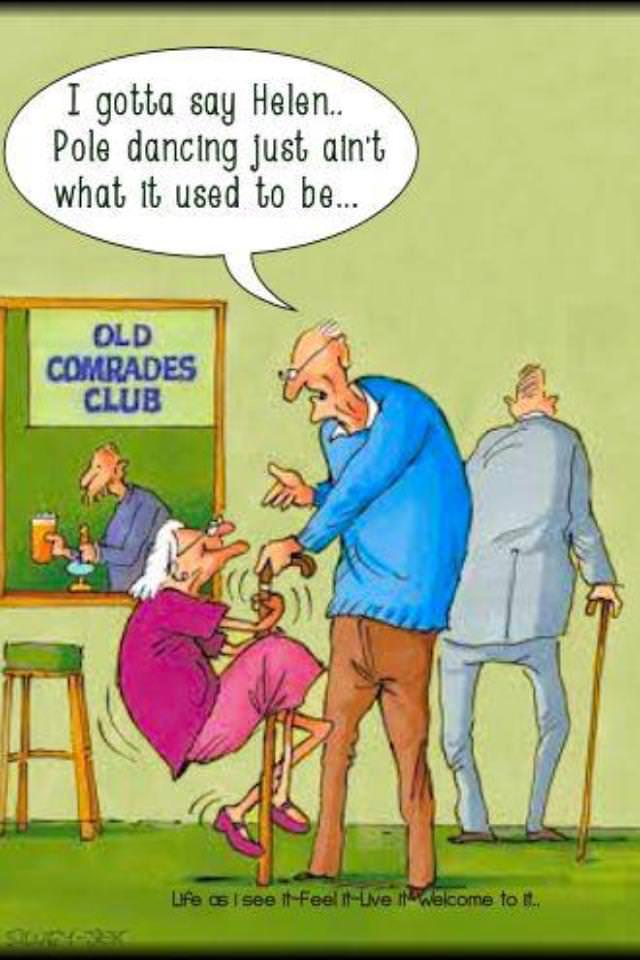 old age cartoon
