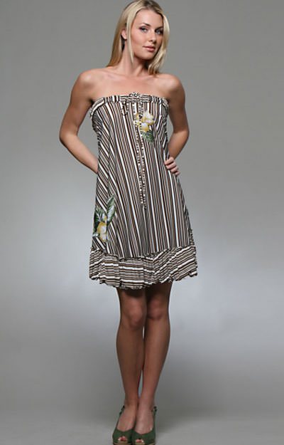 stripped grey dress