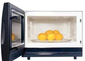 Microwave, Microwave uses, Lemons