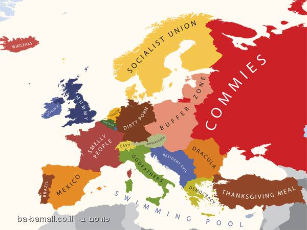 funny map of europe