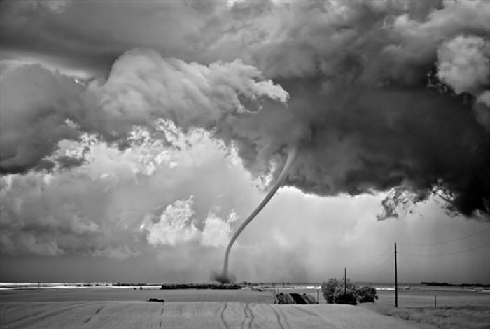 black and white storm photos