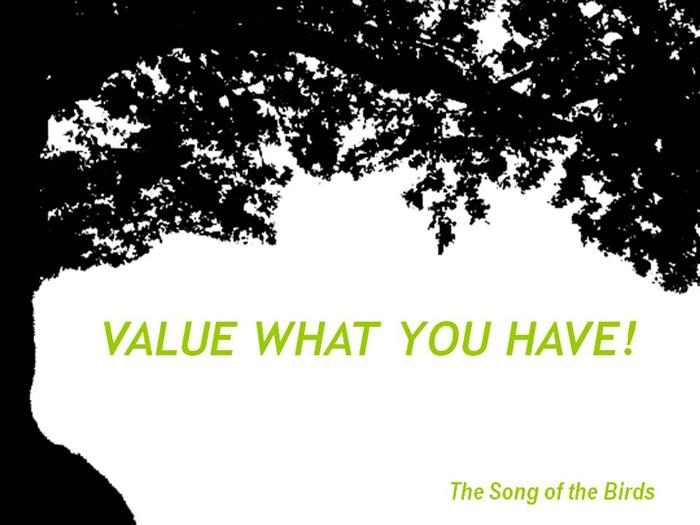 The Value of What You Have - Uplifting!