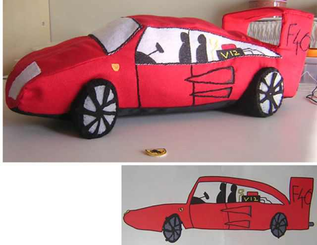real toys from sketches