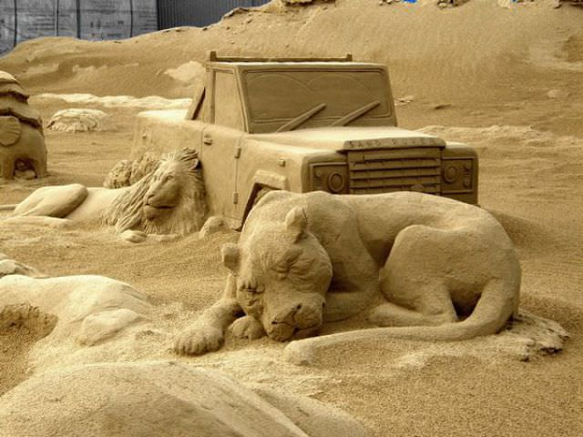 ice and sand sculptures