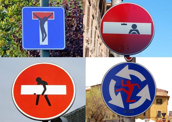 street sign art