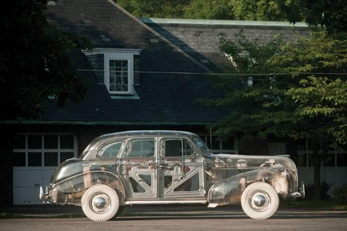 plexiglass car