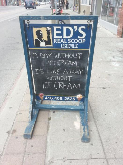 hilarious sidewalk signs