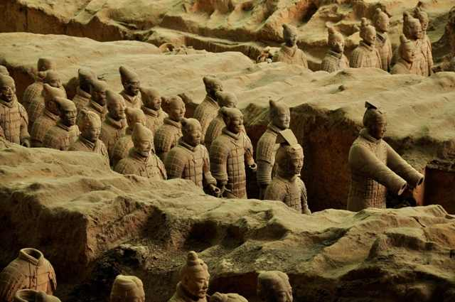 terracotta cave