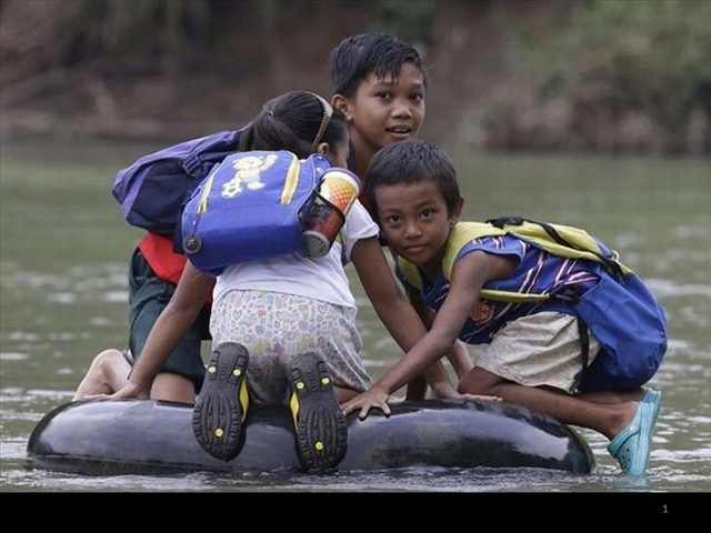 way to school in third world countries
