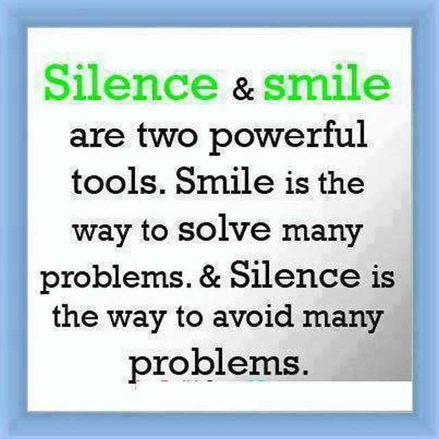 Silence Smile Inspirational Quote Spirituality Babamail