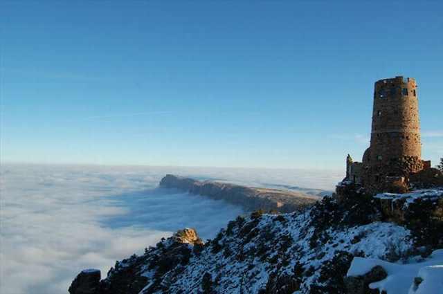 grand canyon fog