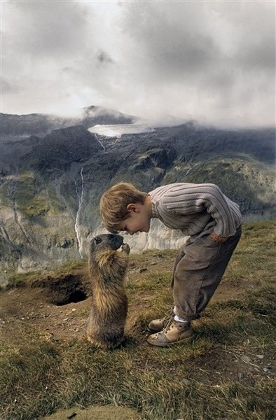 photos of kids and animals