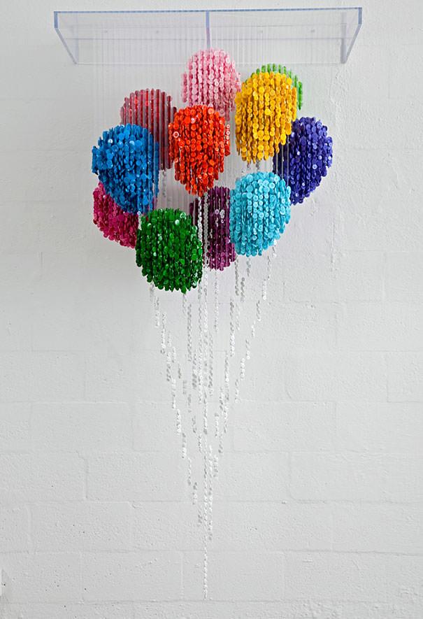button sculptures