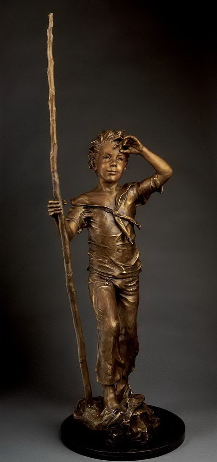 bronze children art