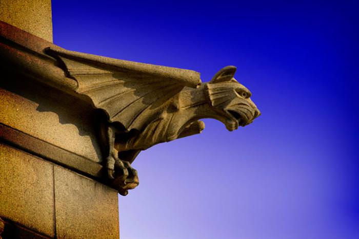 gargoyles and building sculptures