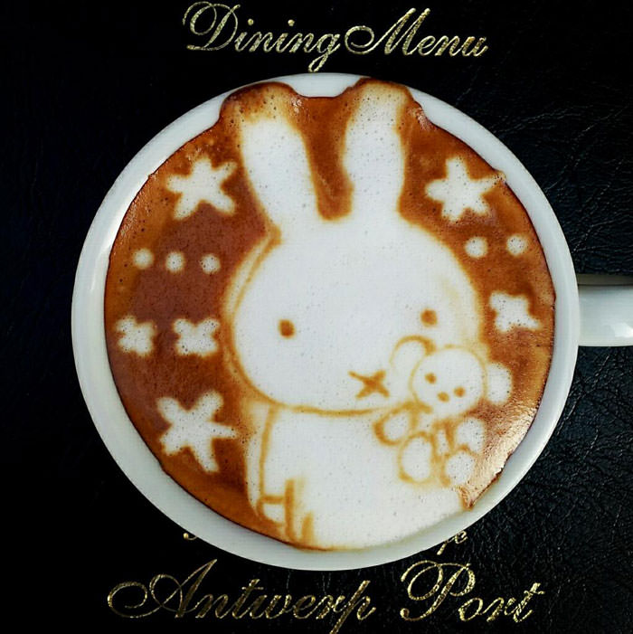Latte art photos