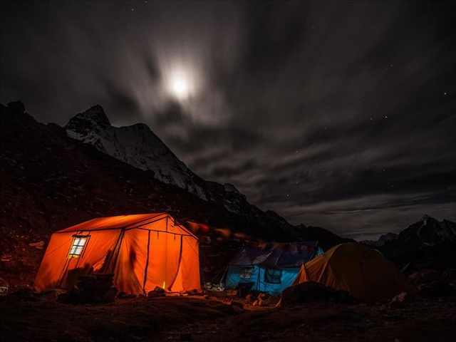 photos of camping under stars