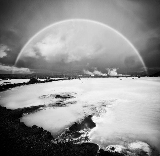 Iceland in black and white photography