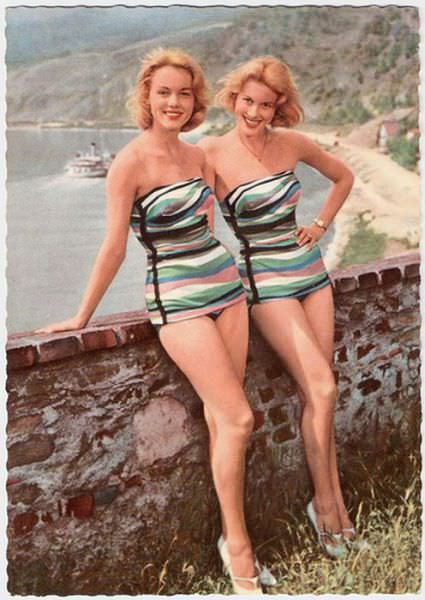 bathing suits 50s
