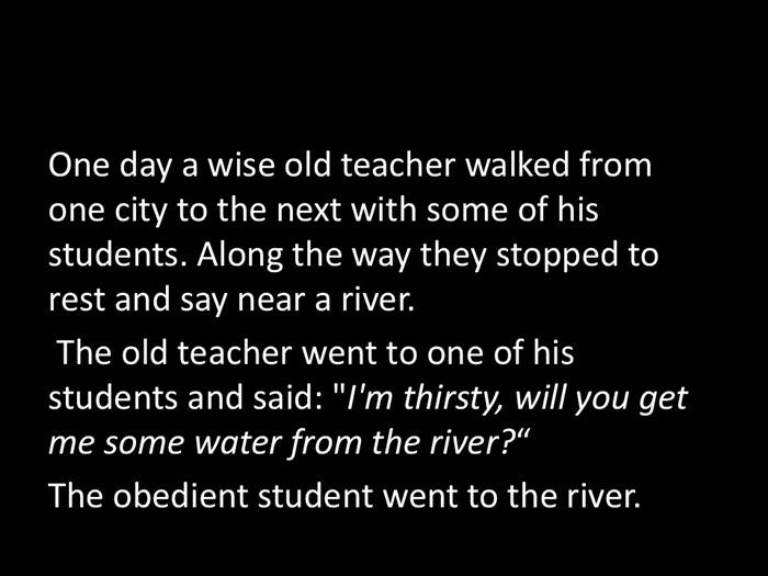 old teacher and river
