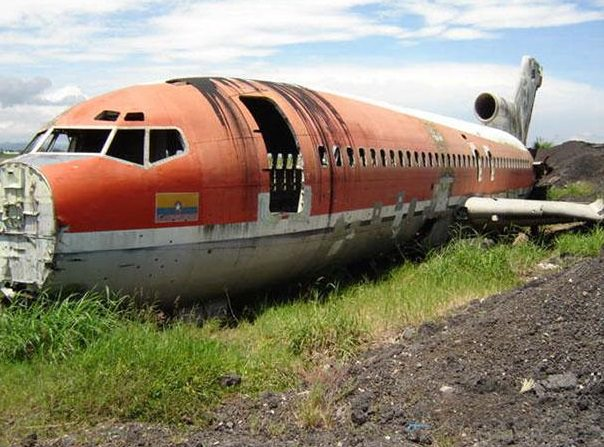 plane turned hotel