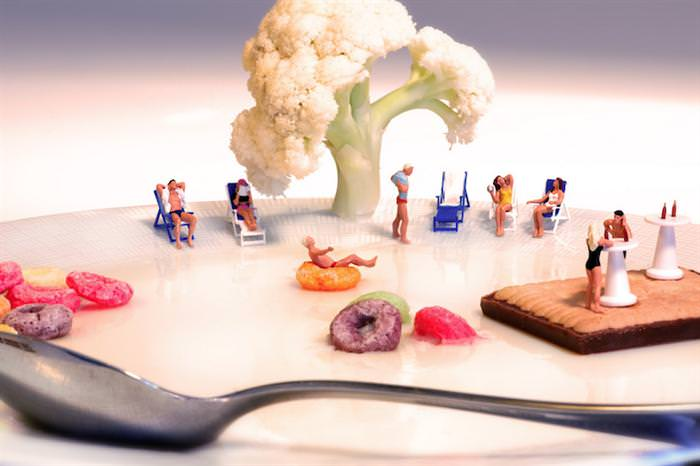 miniature food worlds