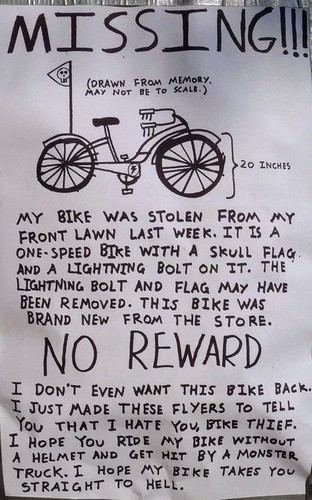 funny anti theft notes