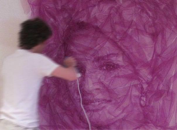 folded fabric art