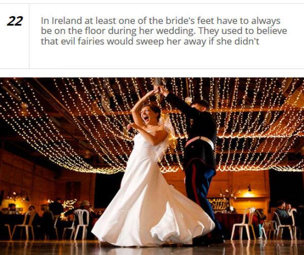 bizarre wedding customs