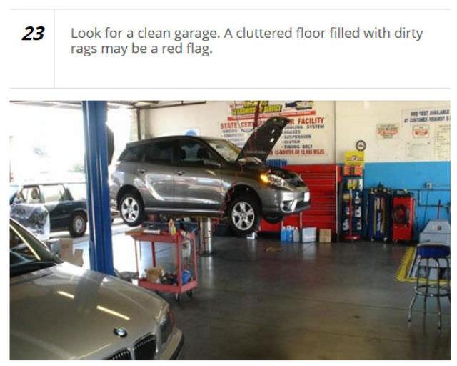 warning against mechanic