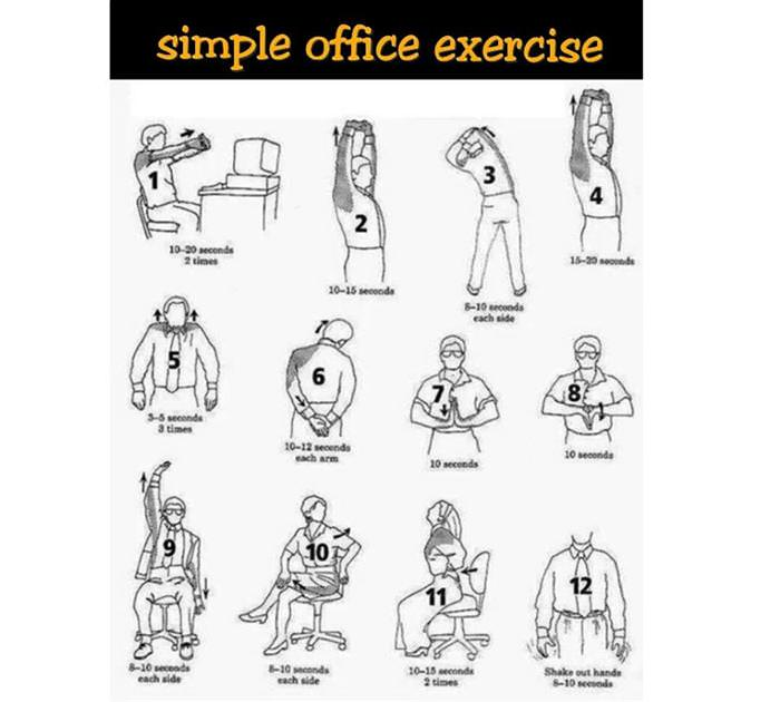 health tip simple office exercise health babamail