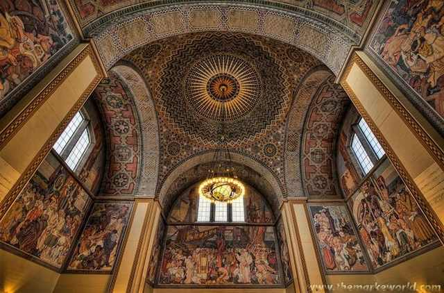 Beautiful ceilings from around the world design for Bank ballroom with beautiful mural nyc