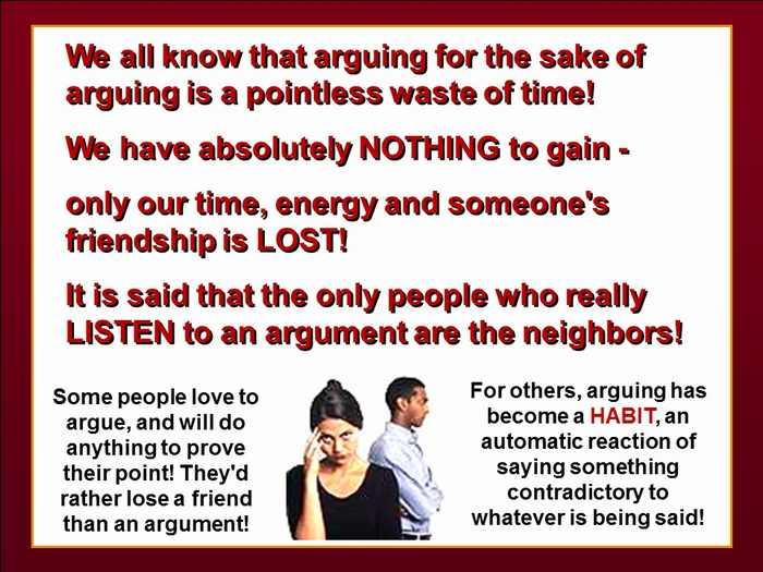 argument against arguments