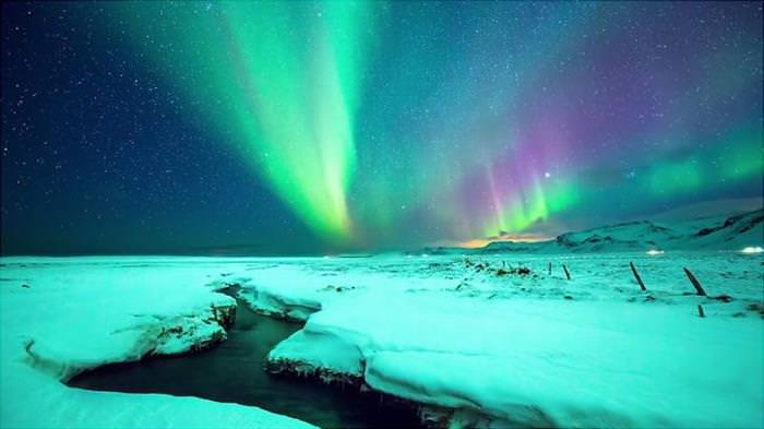 Aurora Borealis Greenland and Iceland