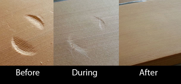 DIY: Fix Dents in Wooden Furniture
