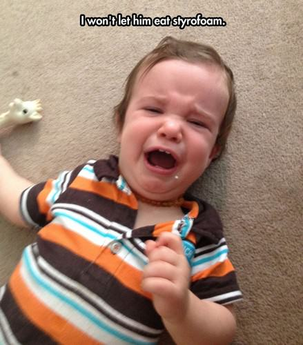 funny kids crying