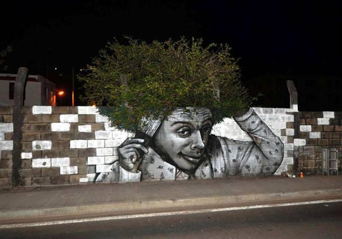 street art using environment