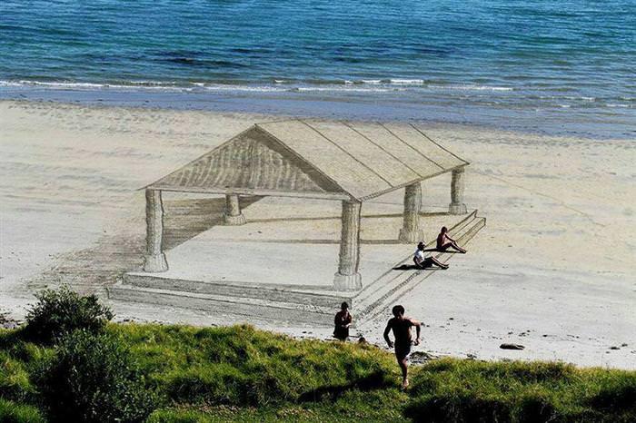 3d beach art