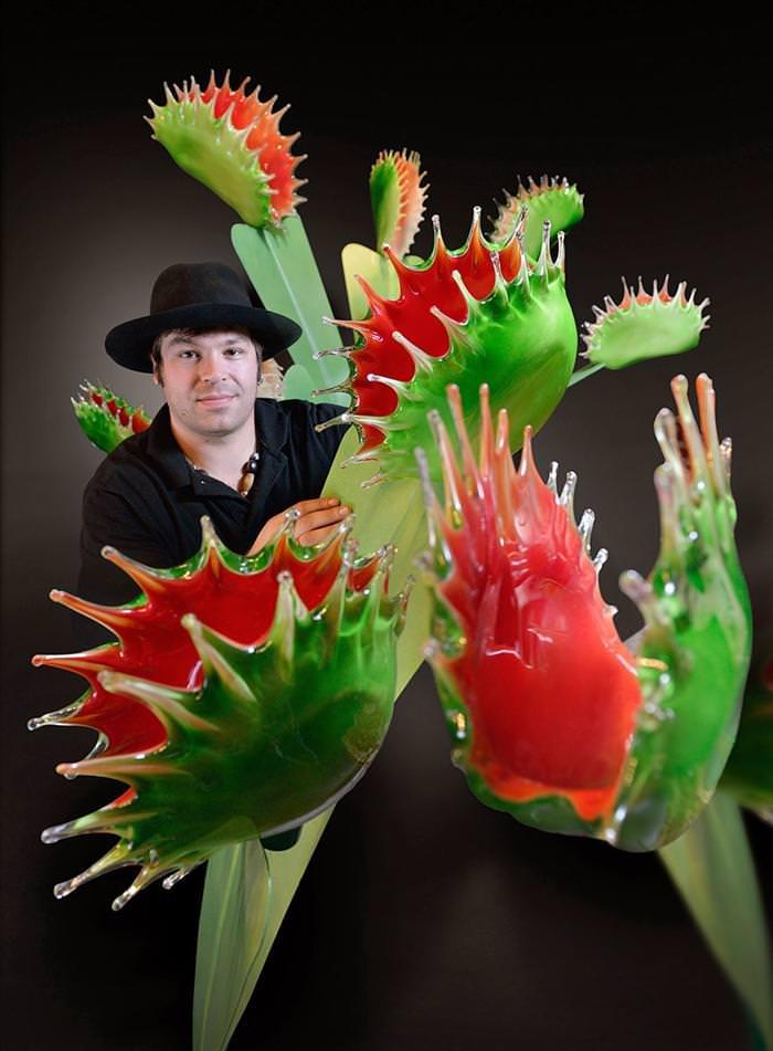 giant glass flowers