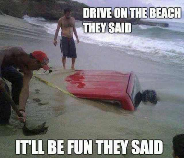 funny beach people