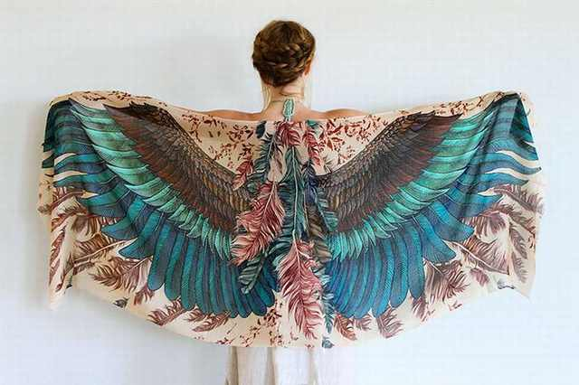 feather scarves