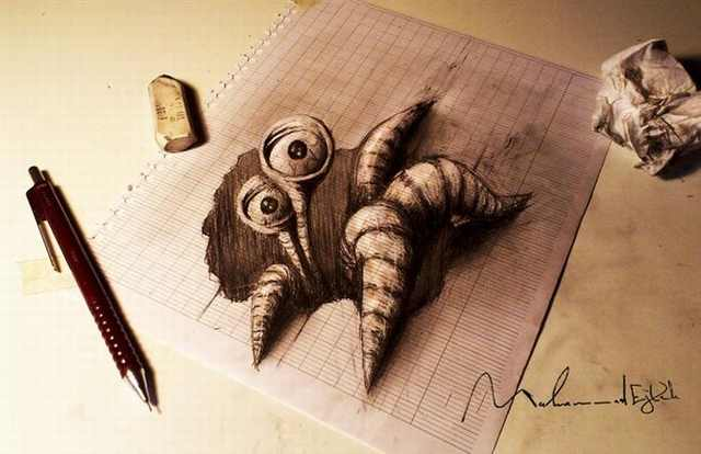 3D Pencil Drawings