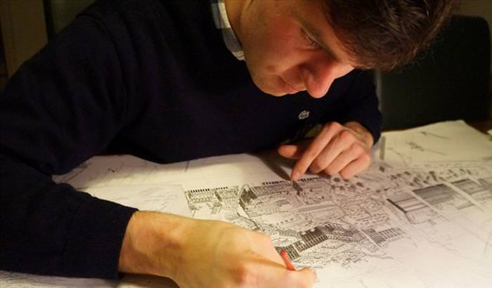 These Pencil-Drawn Cityscapes Are Absolutely Mindblowing!